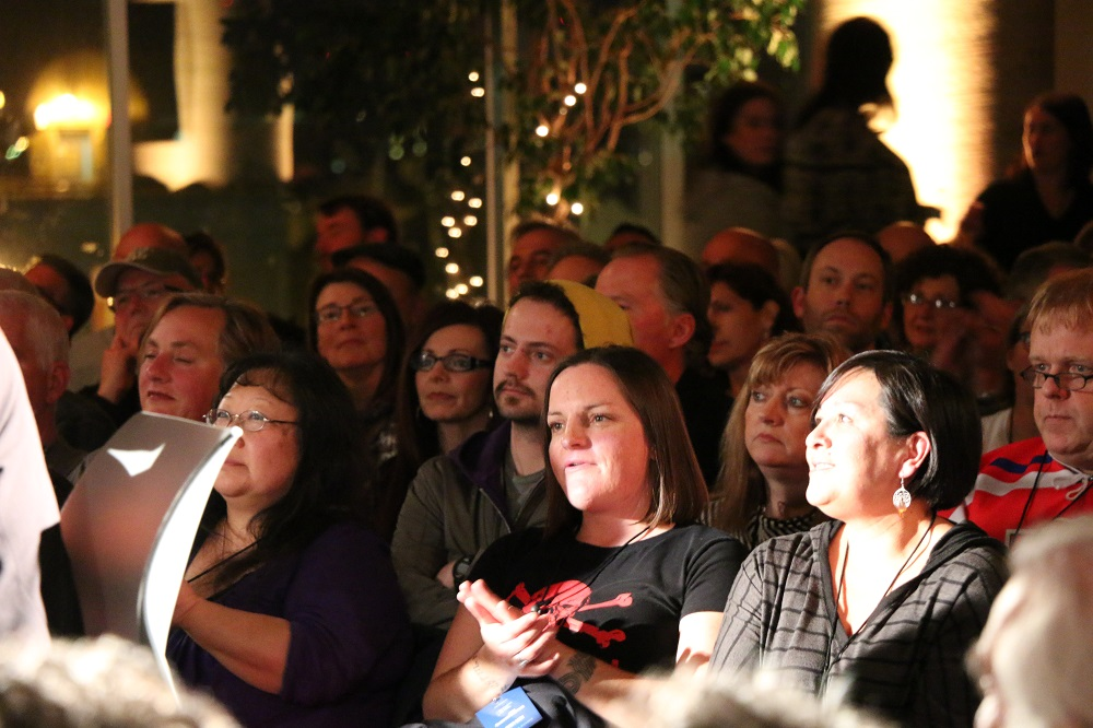 Photo of audience at the Blackie and the Rodeo Kings concert