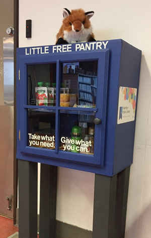 photo of the Little Free Pantry at the Barton Branch