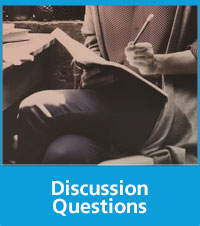 image of a female reading with text Discussion Questions