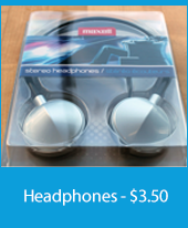 Closeup of headphones in a package