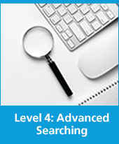 text is level 4 advanced searching with image of a search box