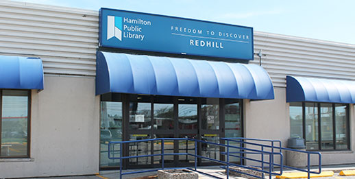 photo of the front entrance of the Red Hill Branch