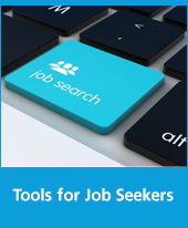 Text: Tools for Job Seekers, Image: Job Search key on a keyboard