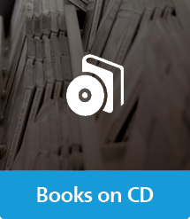 Graphic of Books on CD with text and icon