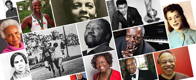 Black historical figures collage