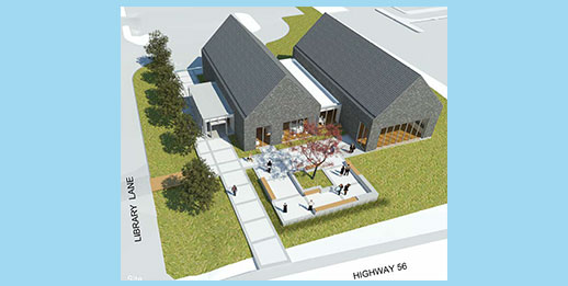 architect rendition of new Binbrook branch