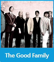 Graphic with the text The Good Family and a photo of the Good Brothers and the Sadies bands