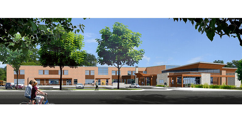 architects rendiition of greensville rec centre