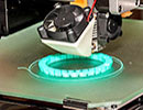a 3D printer platform while printing