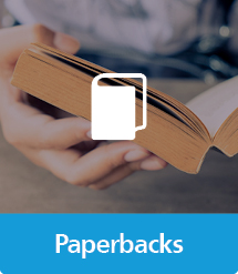 Graphic of Paperbacks with text and icon