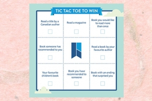 image of tic tac toe card for Adult Summer Reading 2018