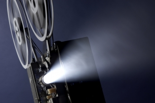 Light beam and film projector