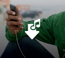 Man listening to music on an MP3 player
