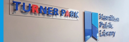 photo of the Turner Park Branch sign