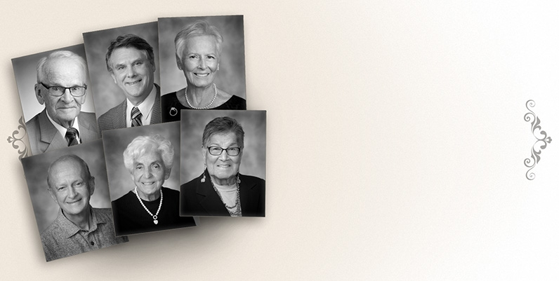 A collage of the Gallery of Distinction inductees for the 2019 year.