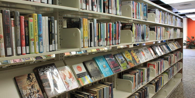 Book shelf at the Terryberry Branch