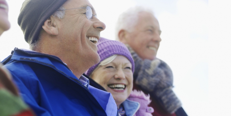 Group of smiling seniors