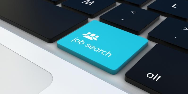 Job Search key on a keyboard