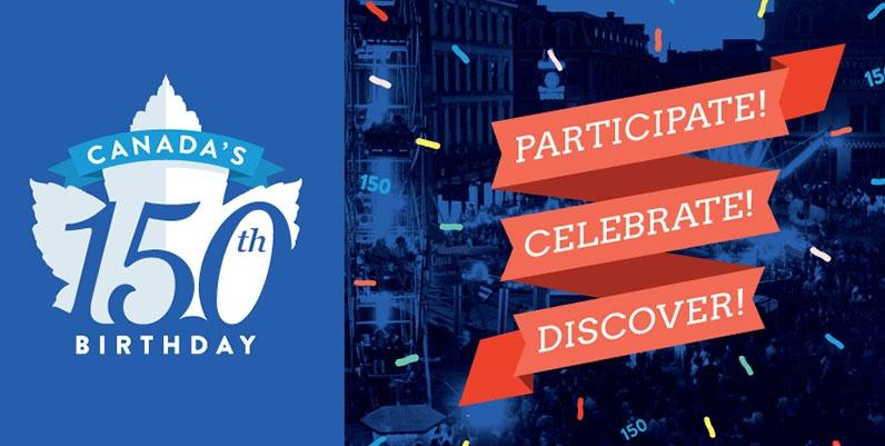 HPL logo for Canada 150 and slogan Participate Celebrate Discover