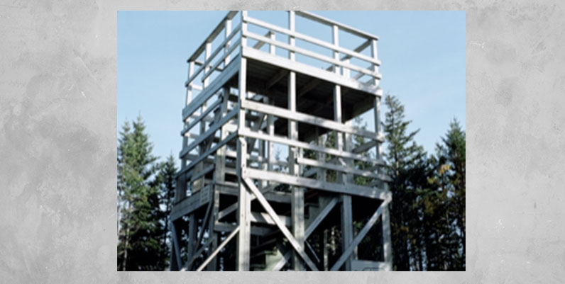 photo of a wooden tower