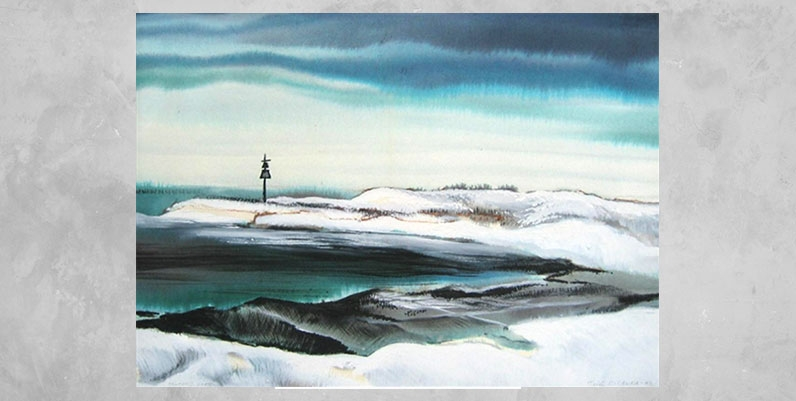 painting of a winterscape