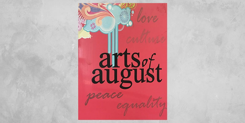 poster with text Arts of August