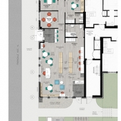 Floor-plan of the Parkdale Branch of Hamilton Public Library