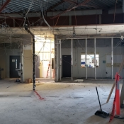 Valley park branch construction. Inside pictured