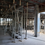 Valley park branch construction inside pictured with scaffolding
