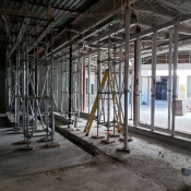 Valley park branch construction inside pictured with windows