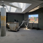 Valley park branch construction inside pictured with machinery