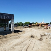 Valley park branch construction outside pictured