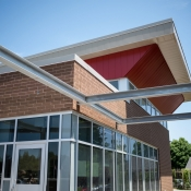 Exterior photo of the new greensville branch