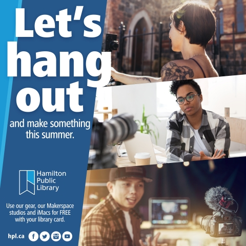 Let's hang out and make something this summer. Use our Makerspace studios and iMacs for FREE with your library card.