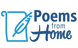 Poems from home. A book and quill is displayed.