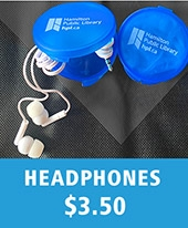 HPL headphones in a blue case