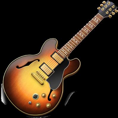 Garage Band logo - graphic of guitar