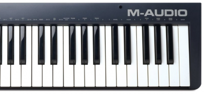 a photo of a  musical keyboard
