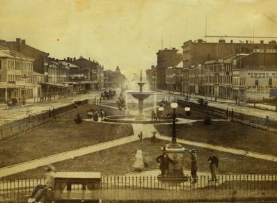 Gore Park, 1870s