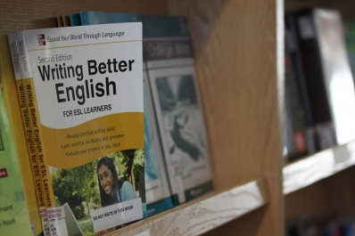 ESL books on a bookshelf