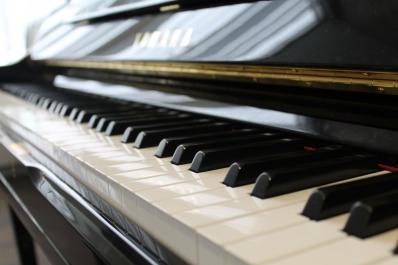 Closeup of keys on a piano