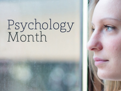 image: female face text:psychology month