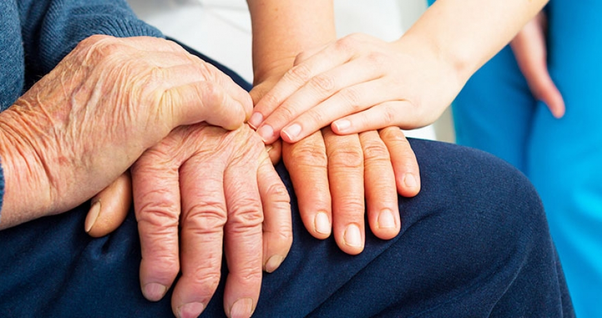 Supporting hands for the elderly suffering from dementia