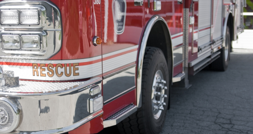 Closeup of a fire truck