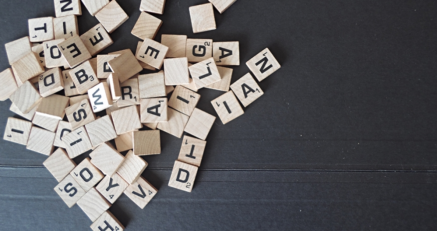 Photo of scrabble tiles