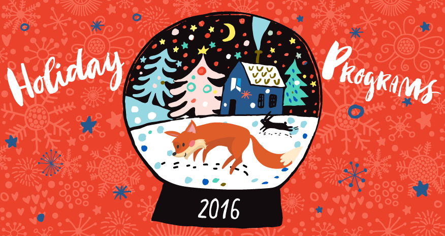 Scout the Fox in a snow globe
