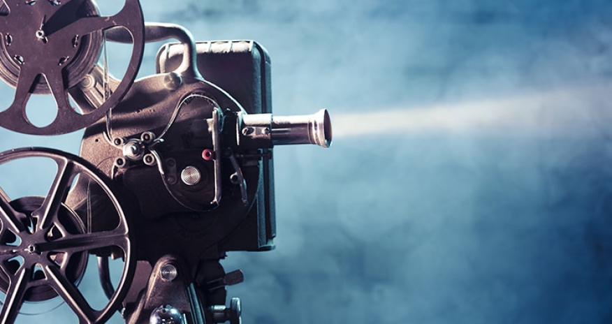 a photo of a movie projector