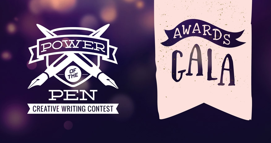text power of the pen creative writing contest awards gala