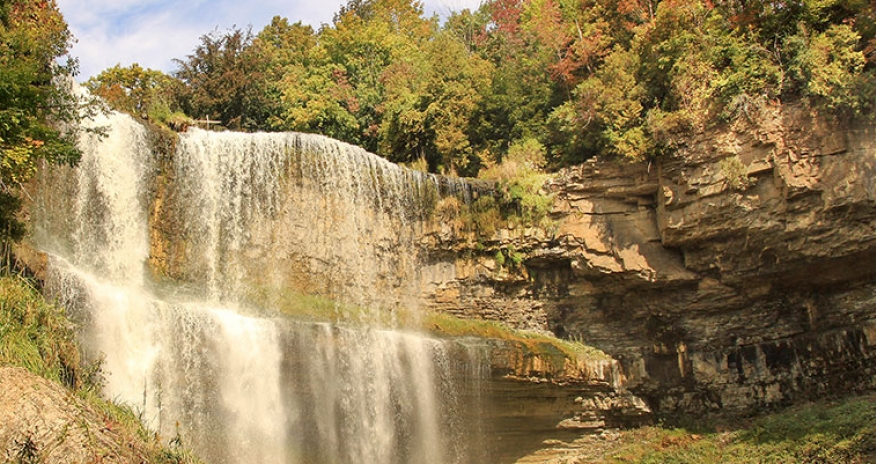 a photo of websters fall in hamilton