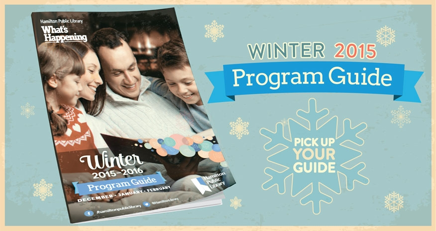 program guide on background with snowflakes